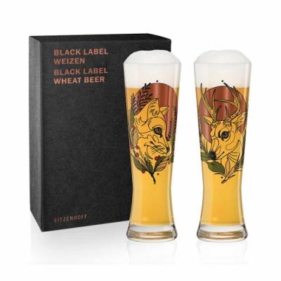 德國 RITZENHOFF BLACK LABEL 黑標小麥啤酒對杯 - 共3款