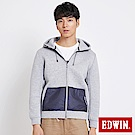 EDWIN 太空競賽 太空棉連帽休閒外套-男-銀灰色