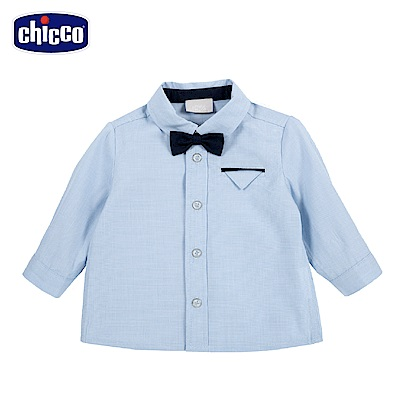chicco-倫敦熊系列-領結長袖襯衫-藍(12-24個月)