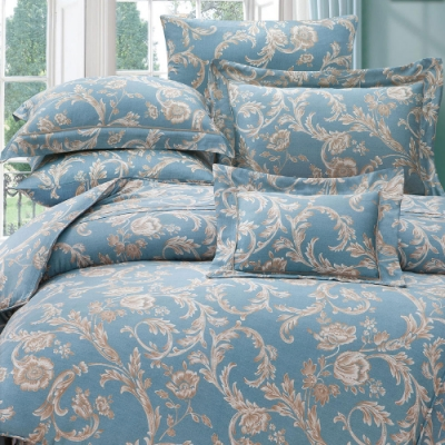 岱思夢  加大  60支八件式天絲床罩組   佩納亞-藍