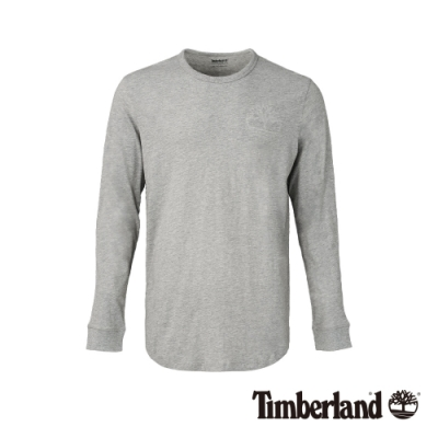 Timberland 男款低調灰休閒長袖圓領T恤 A1OFR