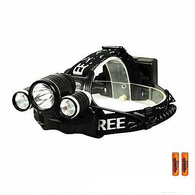 【WIDE VIEW】頭戴/車用雙功能T6三頭燈組(NZL-KC018-2BCY)
