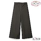 褲子MIT條紋OL顯瘦闊褲休閒直筒鬆緊寬褲LIYO理優E821007 S-XL