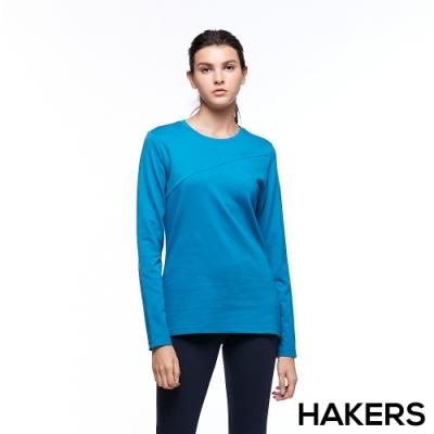 【HAKERS 哈克士】女 保暖排汗衣(威尼斯藍)