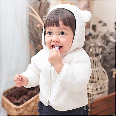 baby童衣 小熊造型絨毛外套 70006