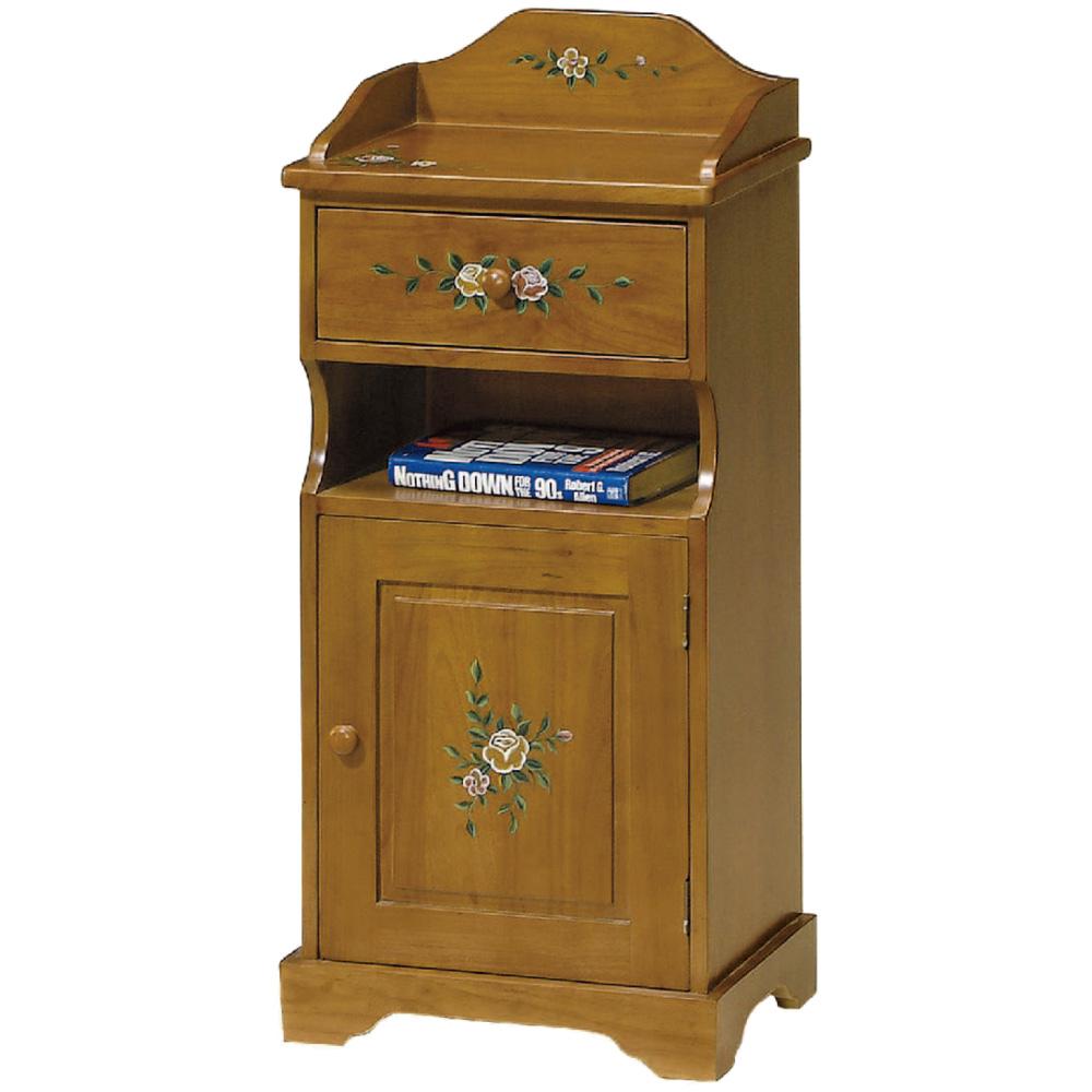 綠活居 米格時尚1.4尺實木鄉村彩繪置物櫃/收納櫃-42x30x91cm免組