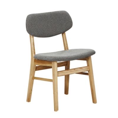 H&D 1朵特栓木灰色布餐椅