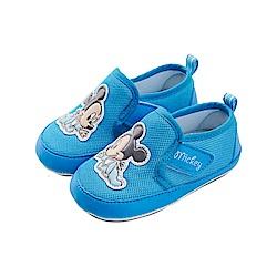 迪士尼童鞋 米奇 baby魔鬼氈寶寶鞋-藍