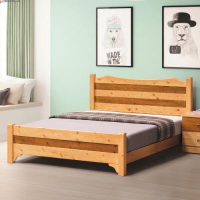 MUNA 雅歌檜木色3.5尺單人床(實木床板) 111X202X95cm