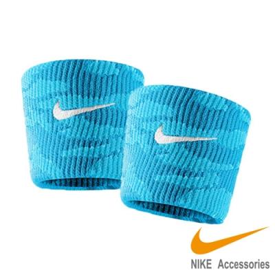 NIKE Dri-Fit 迷彩腕帶 藍