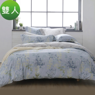 Tonia Nicole東妮寢飾 秋葉山嵐環保印染100%精梳棉兩用被床包組(雙人)