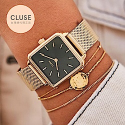 CLUSE La Tetragone 不鏽鋼系列腕錶 (金框/