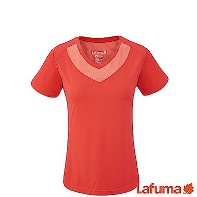 LAFUMA-女抗UV TRACK 短袖排汗衣-LFV113907603-橘紅
