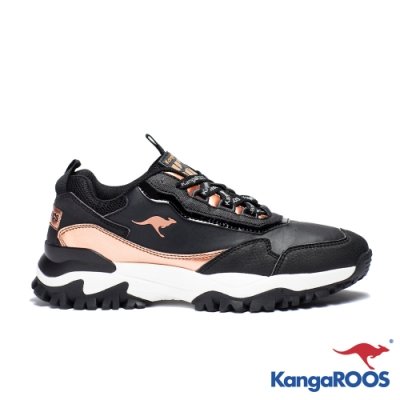 KangaROOS 美國袋鼠鞋 女 NEON 越野老爹鞋(黑金)