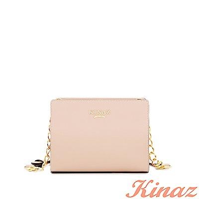 KINAZ-玫瑰花園鏈帶斜背包-紗裙粉-浪漫舞曲系