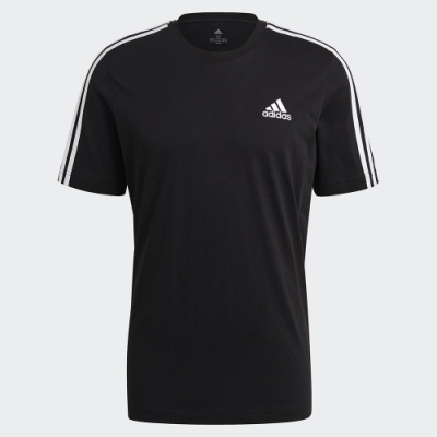 ADIDAS 上衣 運動 休閒 短袖上衣 男款 黑 GL3732 Essentials