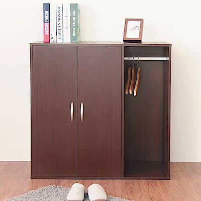 《HOPMA》DIY巧收二門一格組合式衣櫃