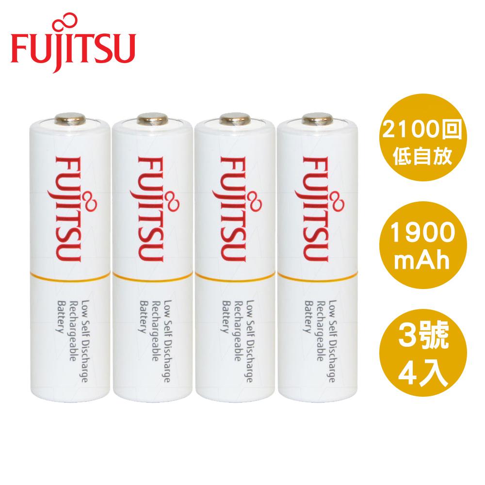 Fujitsu 富士通 AA3號1900mAh低自放充電電池4入