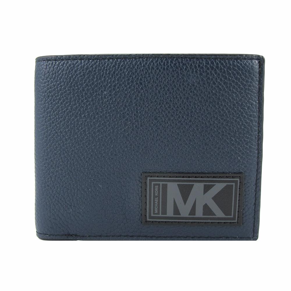Michael Kors GIFTING禮盒-新皮標十卡短夾-含一可拆式ID夾(藍)