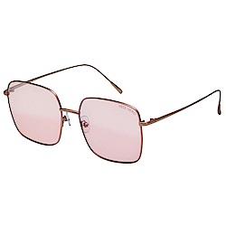 VEDI VERO 水銀面 太陽眼鏡 (玫瑰金配粉)VE872