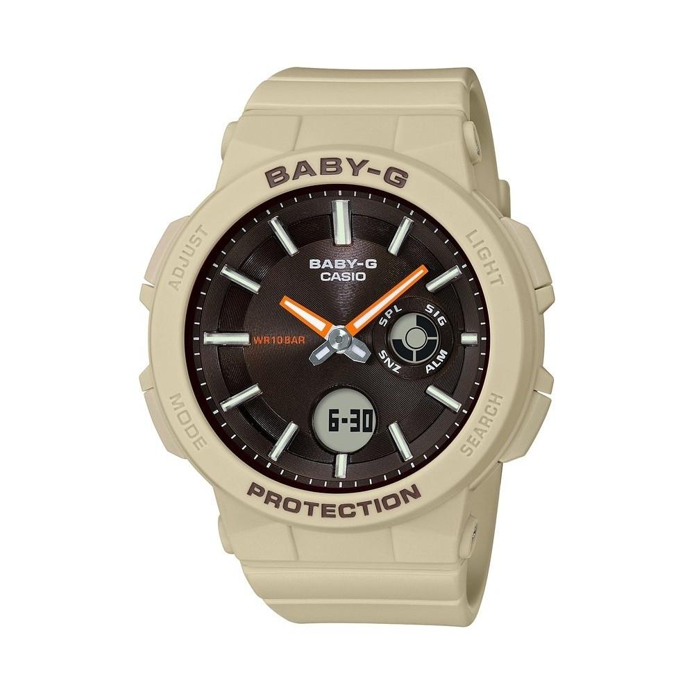 BABY-G-霓虹閃耀愛冒險女孩運動休閒錶-卡其(BGA-255-5A)/45.1mm