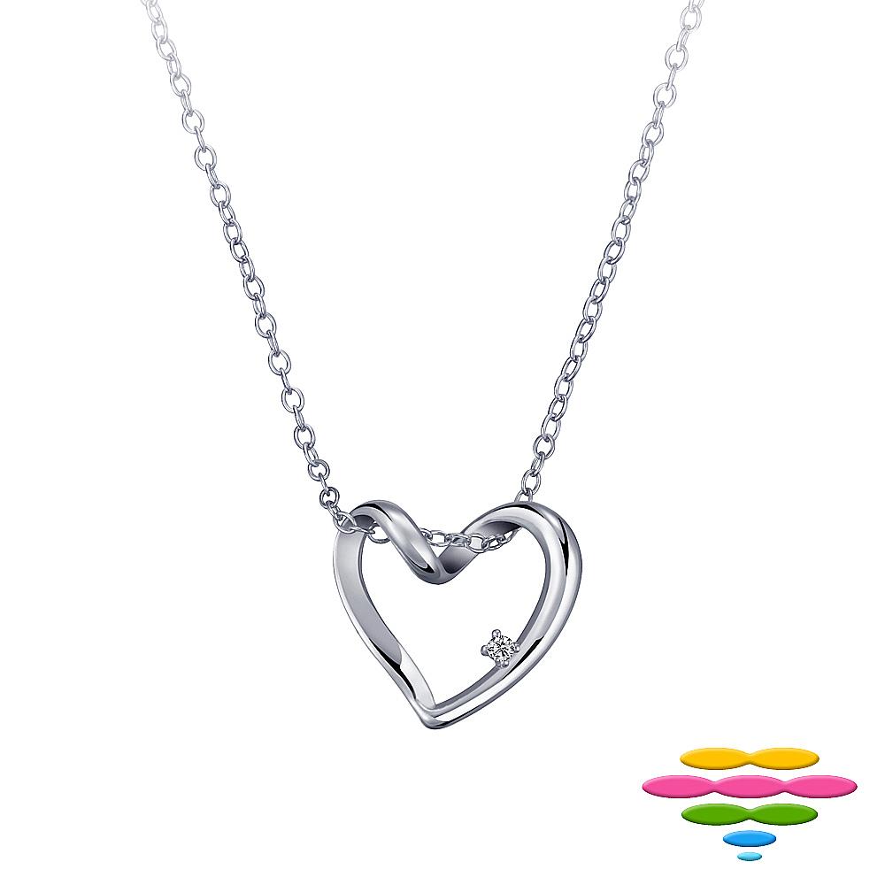 彩糖鑽工坊 愛心鑽石項鍊
