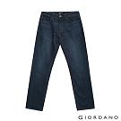 GIORDANO 男裝基本款中腰錐形牛仔褲 - 96 中藍