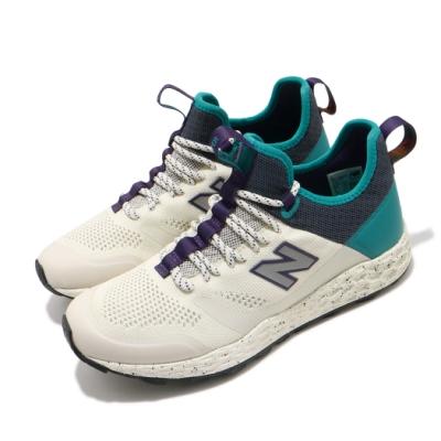 New Balance 慢跑鞋 Fresh Foam 運動 男鞋 紐巴倫 輕量 透氣 舒適 避震 路跑 米白 藍綠 MFLTBDWPD
