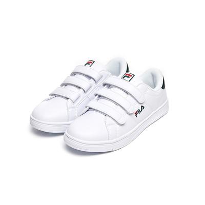 FILA 中性魔鬼氈板鞋運動鞋-白/綠 4-C618V-106