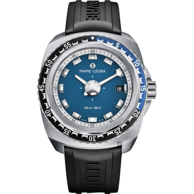 FAVRE-LEUBA 域峰 RAIDER Deep Blue 300米潛水機械錶-41mm