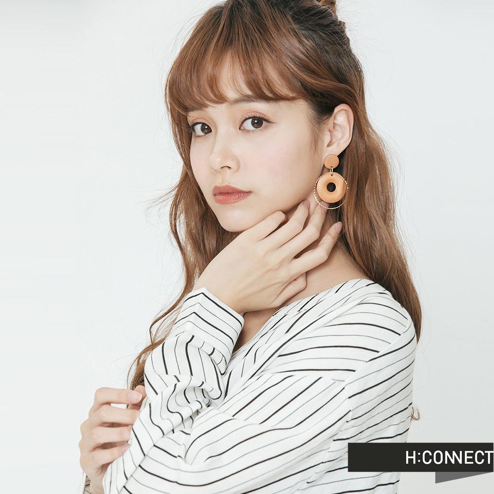 H:CONNECT 韓國品牌 -氣質圓圈交織耳環
