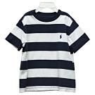Ralph Lauren 童裝經典小馬條紋短袖t恤-白/藍(2/2T)
