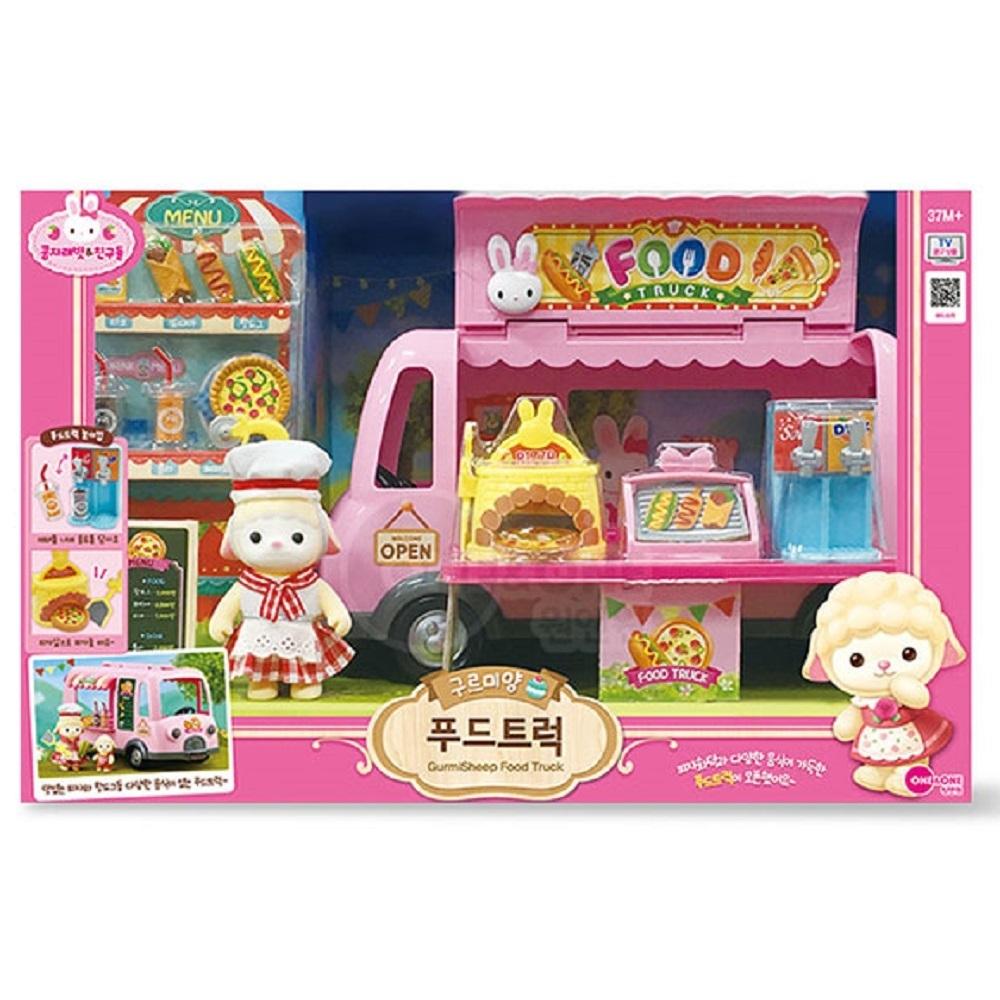 韓國 動物公仔 兔寶家族  小羊 GURMI美式餐車