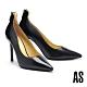 高跟鞋 AS 優雅格調異材質拼接羊皮美型尖頭高跟鞋-黑 product thumbnail 1