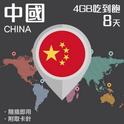 【PEKO】中國上網卡 8日高速4G上網 4GB流量吃到飽 優良品質