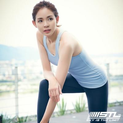 STL yoga bra T SS Balance Slim 韓國瑜珈 運動機能訓練背心上衣(含胸墊)平衡粉藍