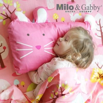 【Milo&Gabby】動物好朋友-可水洗防蹣mini幼童枕心+枕套組-1歲以上(LOLA兔兔)
