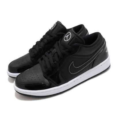 Nike 休閒鞋 Air Jordan 1 Low SE 男鞋 經典款 AJ1 皮革 質感 簡約 穿搭 黑 白 DD1650001