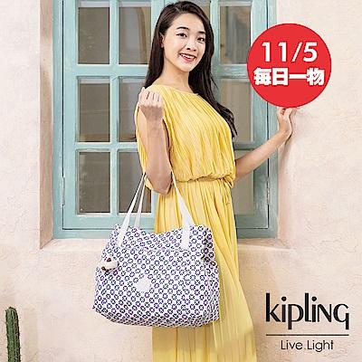 Kipling 復古花磚梯形手提肩背包-PRAVIA