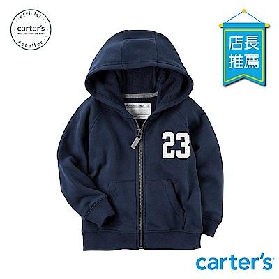 Carter's台灣總代理 數字徽章連帽外套