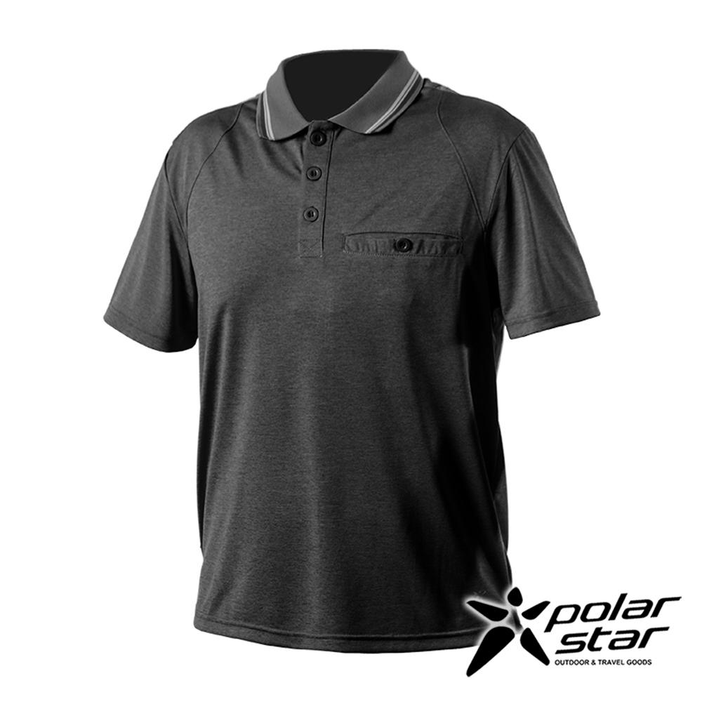 PolarStar 男 排汗休閒POLO衫『炭灰』P20115