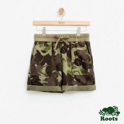 女裝Roots 平織口袋短褲-拚