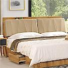 文創集 米迪亞時尚5尺皮革雙人床頭箱(不含床底)-151.5x24x101.5cm免組