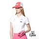【Lynx Golf】女款吸汗速千鳥壓花兩袖包邊短袖POLO衫-白色 product thumbnail 2