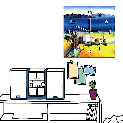 美學365 單聯式方形 藝術掛鐘無框畫-藍天30x30cm