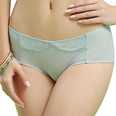 思薇爾 豬寶貝自由風系列M-XL素面中低腰平口內褲(羽絨藍)