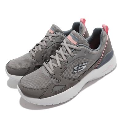 Skechers 休閒鞋 Skech Air Dynamight 女鞋 氣墊 避震 緩衝 支撐 穩定 赤足 灰 白 149663-GYPK