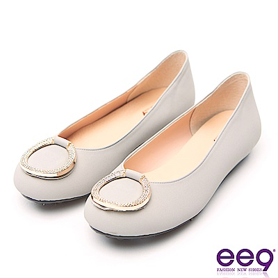 ee9 MIT經典手工質感閃耀星光超輕豆豆娃娃鞋 灰色