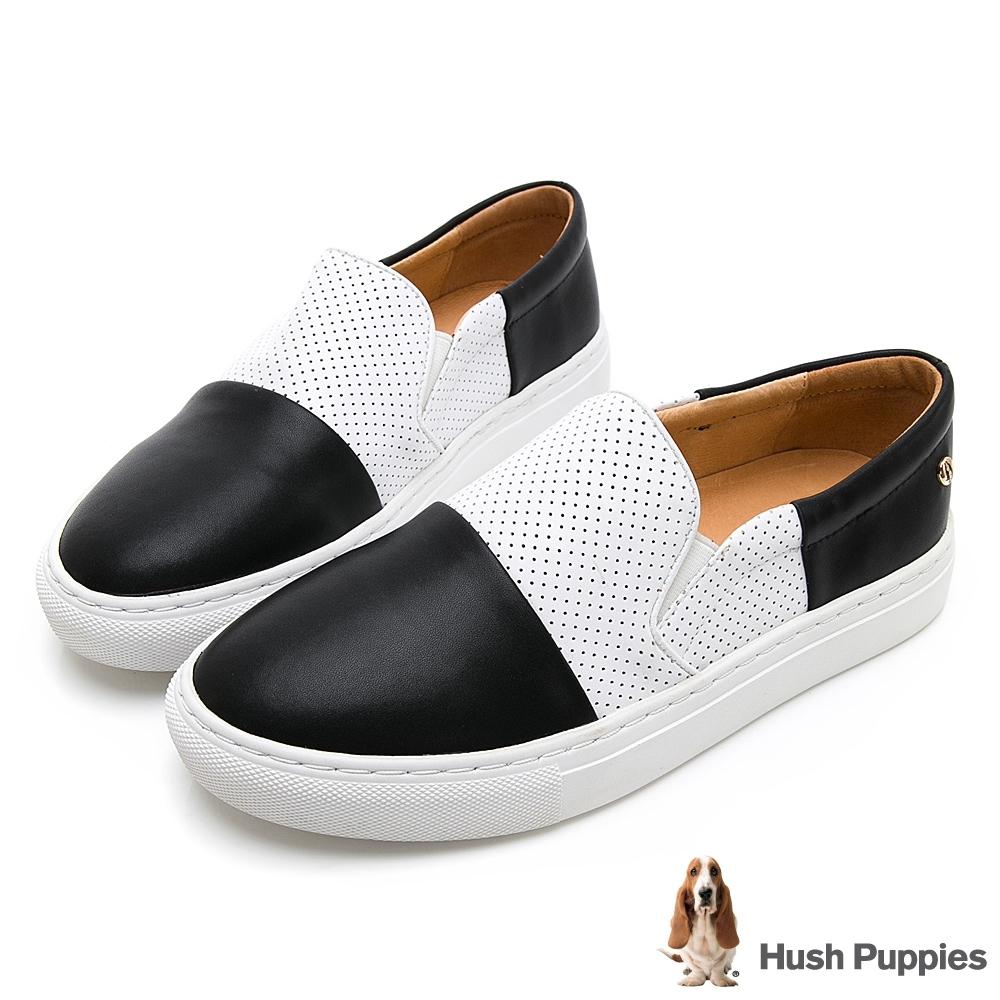 Hush Puppies Intell 女撞色直套便鞋-黑色