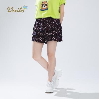 【Dailo】手繪星星蛋糕-短褲(深藍)
